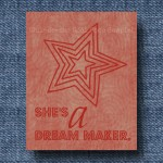 She's a Dream Maker 8×10 Print – Red $1.99