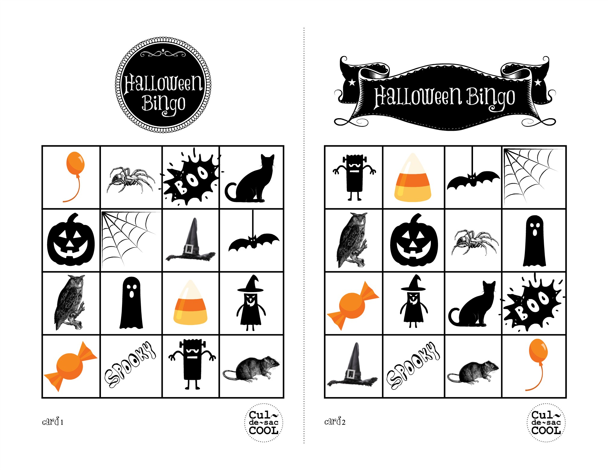 It is a picture of Irresistible Printable Halloween Bingo Cards