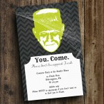 DIY Printable Halloween 'Frank' Invite