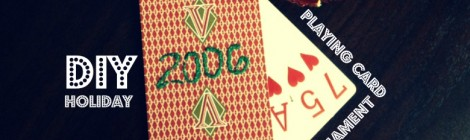 DIY Playing Card Ornament