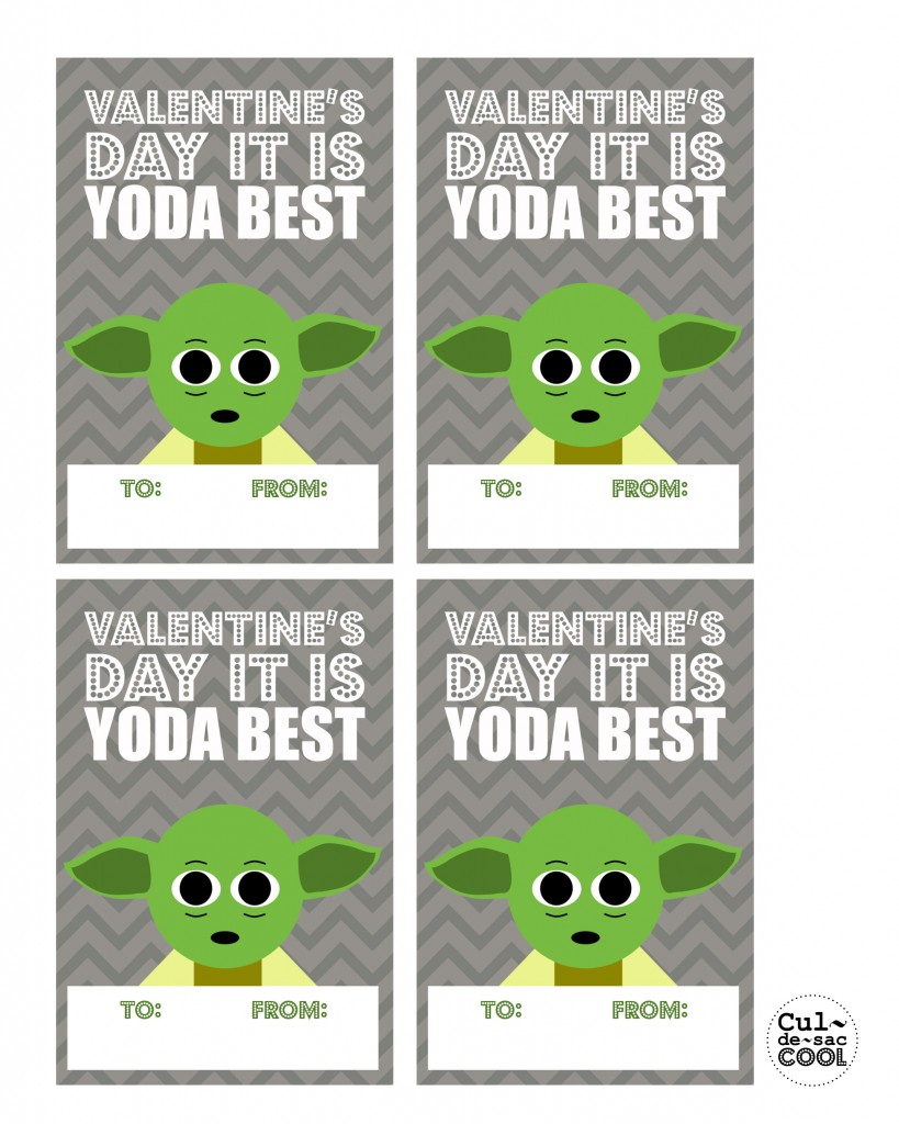 Cool Star Wars Valentine Cards 8x10