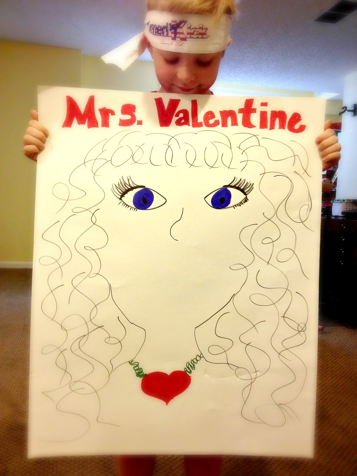 Pin The Lips On Mrs. Valentine (She Really Wants A Kiss!)