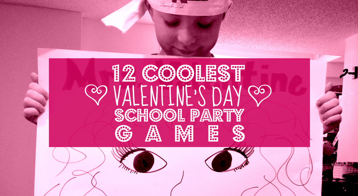 Elementary school valentine s day party games for Valentine party crafts for school