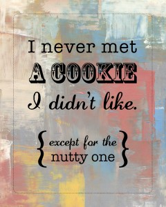 DIY Printable Cookies Vintage 8x10