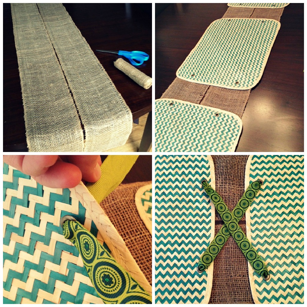 runner  collage placemat table runner ribbon table