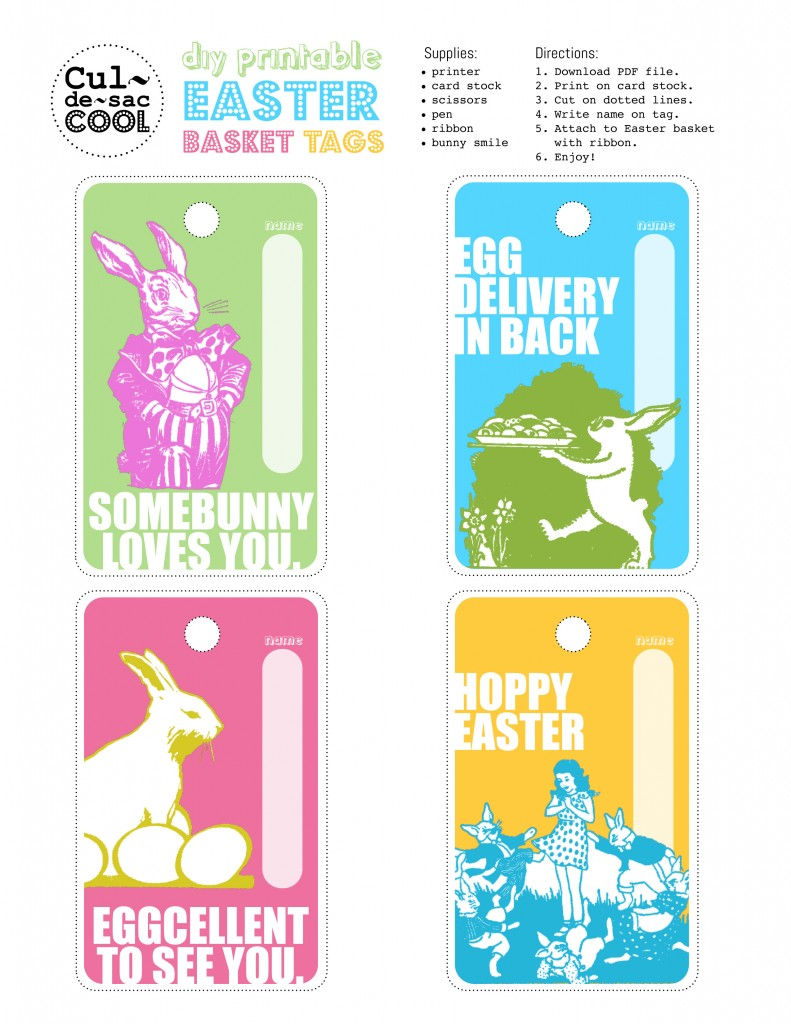Printable easter gift tags craftbnb printable easter tags negle Images