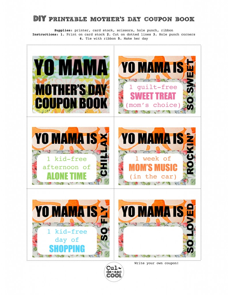 Mother S Day Cookbook Cover ~ Last minute diy mother s day gifts from cul de sac cool