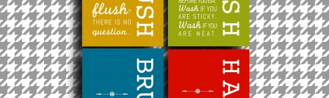 DIY Printable Witty Bathroom Art
