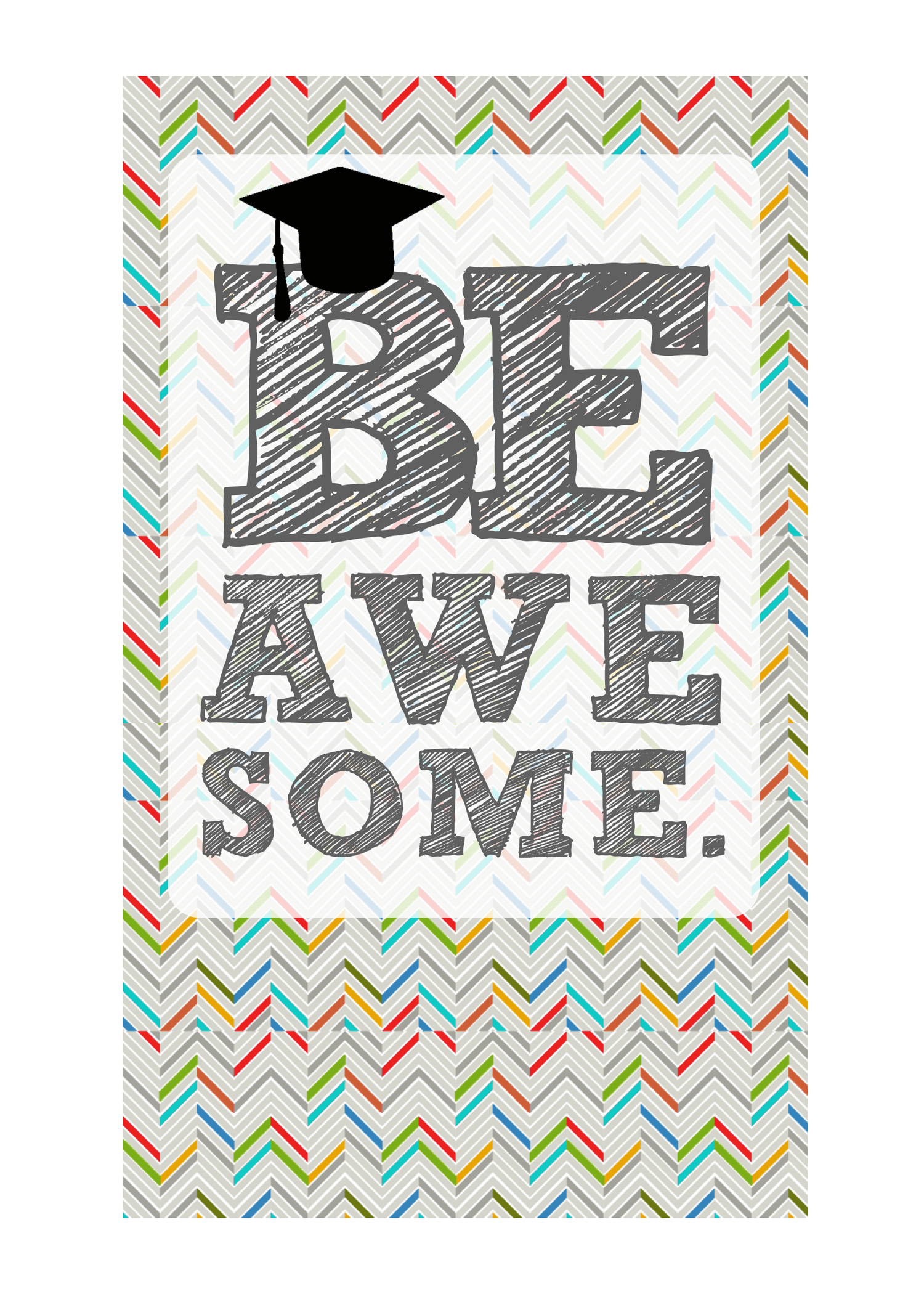 Mesmerizing image in graduation printable cards