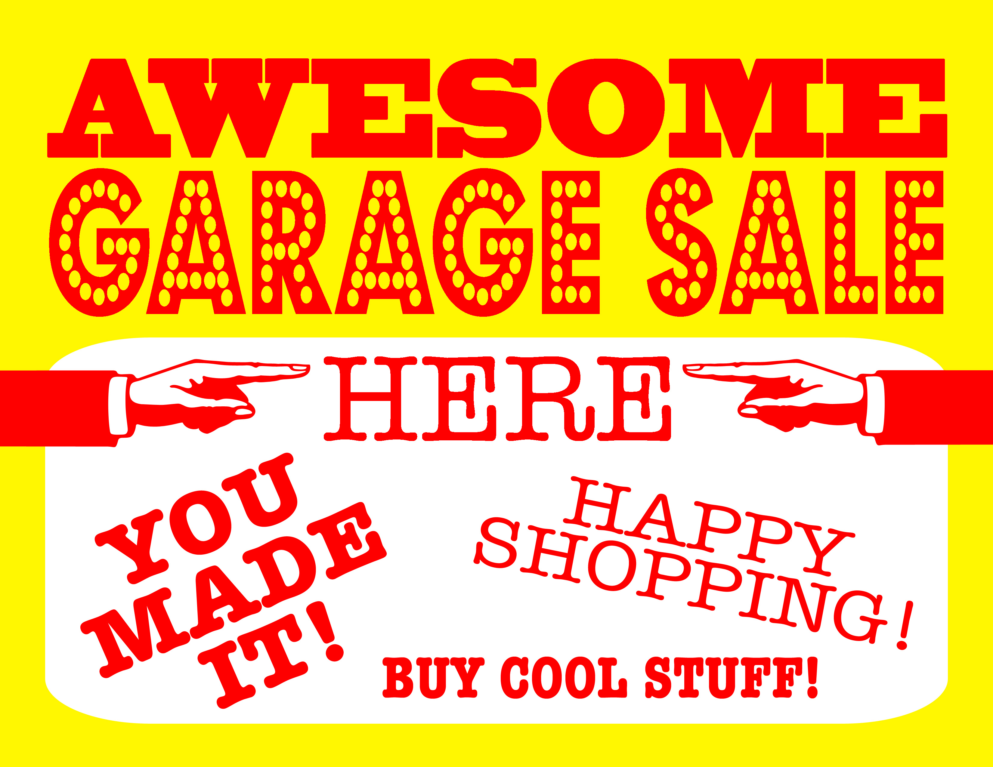 banner garage vector stickers yard set printable sale art free signs downloads
