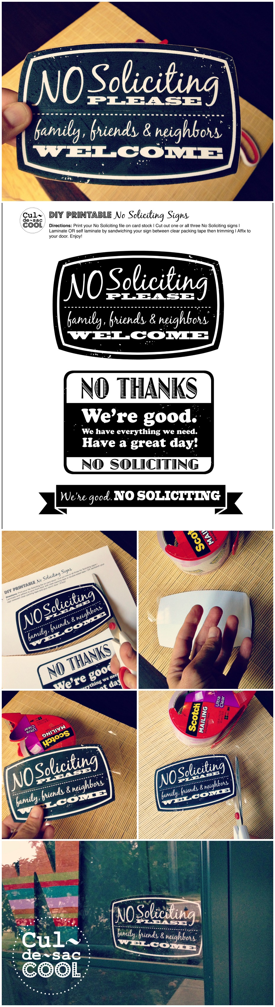 It's just a photo of Magic Free Printable No Soliciting Sign