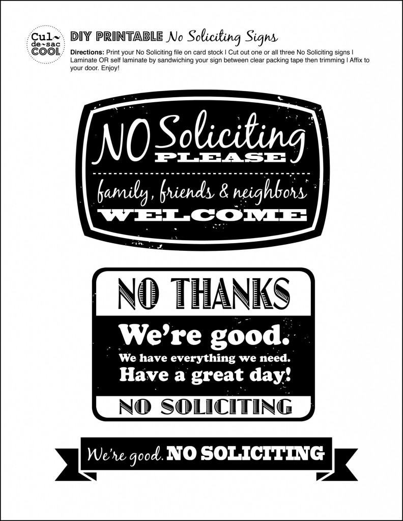 Decisive image throughout printable no soliciting sign