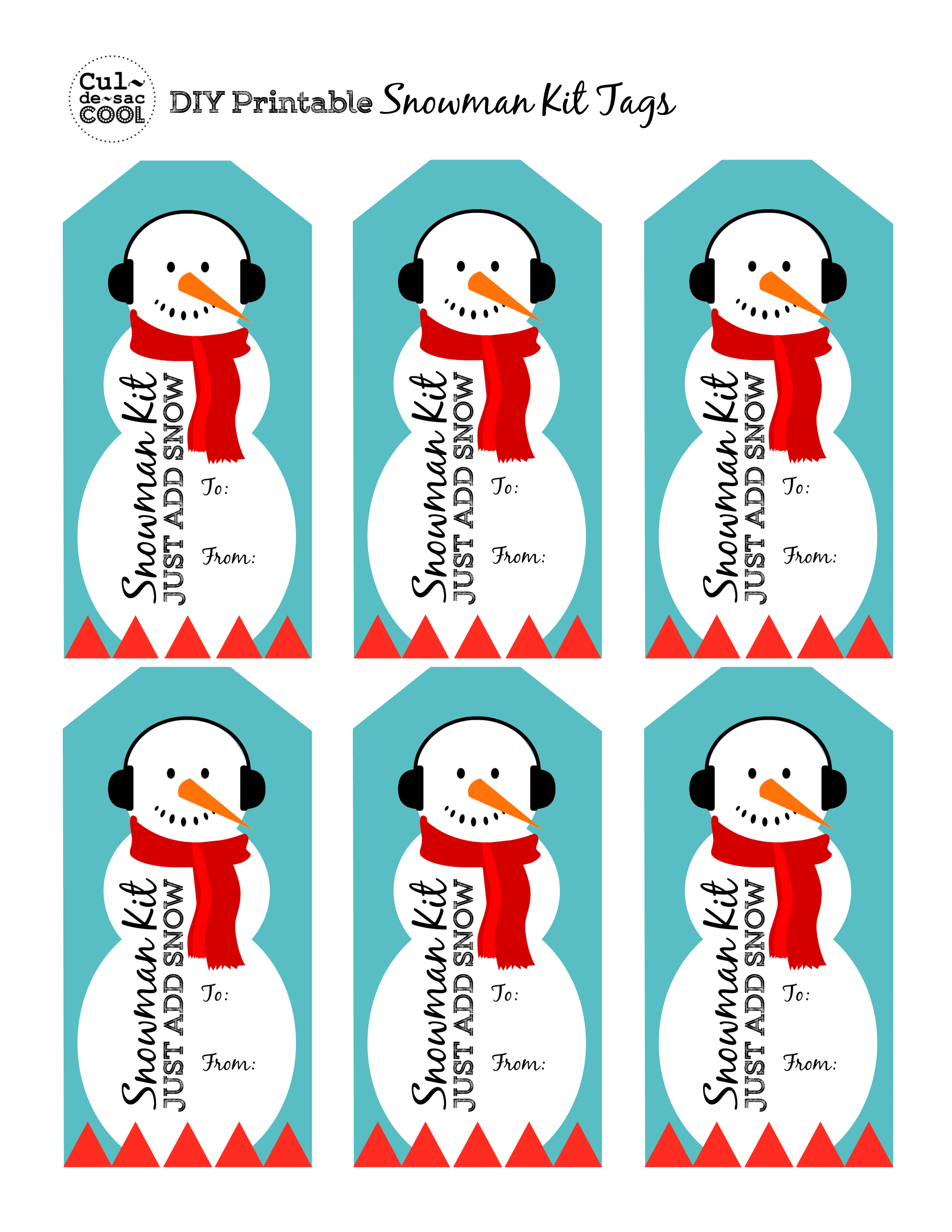 DIY Snowman Kit in a Jar with Free Printable Tag – Great Neighbor ...