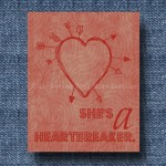 She's a Heartbreaker 8×10 Print – Red $1.99