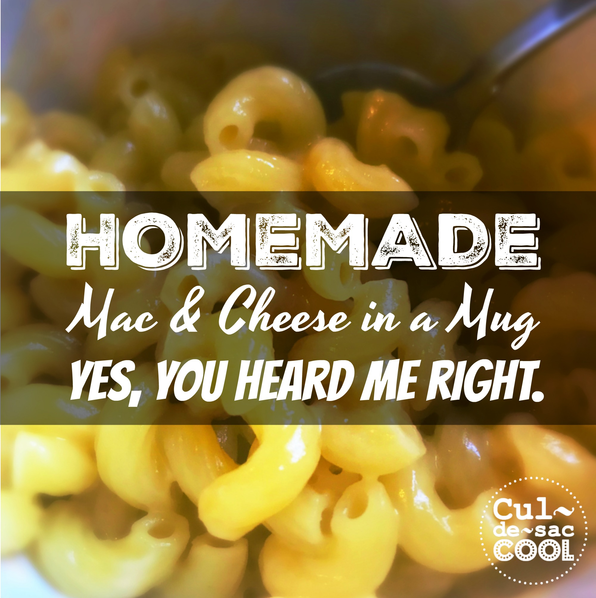 Homemade Mac Cheese In A Mug
